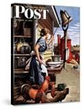 """Dinner Bell "" Saturday Evening Post Cover  October 21  1944"
