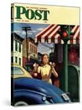 """Dripping Cones "" Saturday Evening Post Cover  July 29  1944"