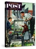 """Fish Aquarium"" Saturday Evening Post Cover  October 30  1954"