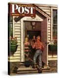 """Flowers for Teacher "" Saturday Evening Post Cover  September 7  1946"
