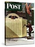 """Honoring the Dead "" Saturday Evening Post Cover  December 4  1943"