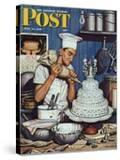 """Icing the Wedding Cake "" Saturday Evening Post Cover  June 16  1945"