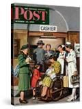 """""""Leaving the Hospital """" Saturday Evening Post Cover  October 22  1949"""