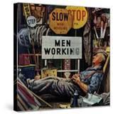 """""""Men Working """" April 12  1947"""
