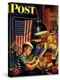 """""""Model Airplanes """" Saturday Evening Post Cover  December 9  1944"""