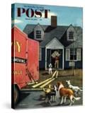 """New Dog in Town"" Saturday Evening Post Cover  March 21  1953"