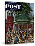 """""""Patriotic Band Concert"""" Saturday Evening Post Cover  July 7  1951"""