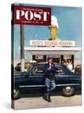 """Pete's Double Headers"" Saturday Evening Post Cover  September 22  1951"
