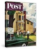 """Picking a Puppy"" Saturday Evening Post Cover  September 30  1950"