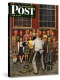 """School Pictures "" Saturday Evening Post Cover  June 15  1946"