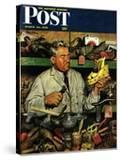"""Shoe Repairman "" Saturday Evening Post Cover  March 20  1948"