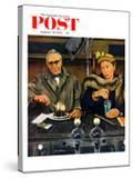 """Soda Fountain Dieter"" Saturday Evening Post Cover  January 30  1954"