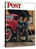 """Speck of Coal "" Saturday Evening Post Cover  October 18  1947"