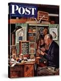 """""""Tying Flies"""" Saturday Evening Post Cover  March 4  1950"""