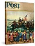 """Washington Crossing the Delaware"" Saturday Evening Post Cover  February 24  1951"