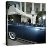 President John F Kennedy and Indian President Sitting in Car