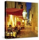 Evening Restaurant Scene in Haute Ville  Bonifacio  South Corsica  Corsica  France  Europe
