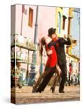 Tango Dancers on Caminito Avenue  La Boca District  Buenos Aires  Argentina