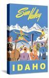 Sun Valley  Idaho  Graphic of Winter Resort Activities