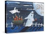 Moon Face Ghosts on Halloween
