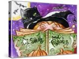 Spells and Potions Halloween Witch & Black Cat Bat