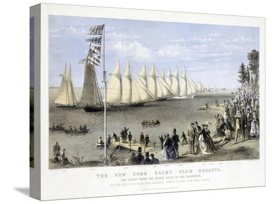 the-new-york-yacht-club-regatta-pub-currier-and-ives-1869