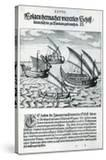 Four Sailing Boats from 'India Orientalis'  1598