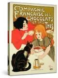 Reproduction of a Poster Advertising the French Company of Chocolate and Tea