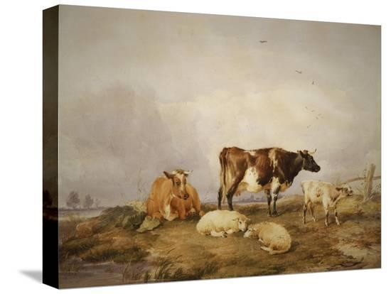 thomas-sidney-cooper-landscape-and-cattle-c1823-1902