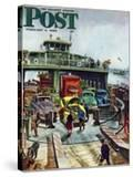 """""""Hudson Ferry"""" Saturday Evening Post Cover  February 4  1950"""