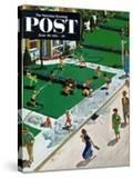 """""""Water Fight"""" Saturday Evening Post Cover  June 30  1951"""