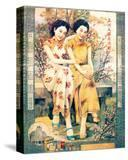 Two Shanghai Ladies with Flowers