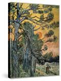 Pine Trees with Sunset and Female Figure  1889
