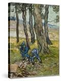 The Diggers  1889 (Oil on Paper Lined onto Canvas)