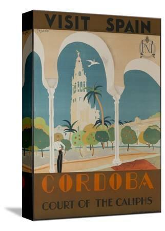 visit-spain-cordoba-court-of-the-caliphs-spanish-travel-poster