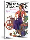 """Geranium Gardener "" Saturday Evening Post Cover  May 1  1937"