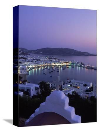 walter-bibikow-chapel-mykonos-town-at-night-greece