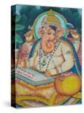 Ganesh Mural in the City Palace  Rajasthan  India