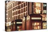 Lit Telephone Booth at Harrods  Knightsbridge  London  England