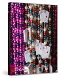 Mardi Gras Beads  French Quarter  New Orleans  Louisiana  USA