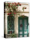 Village Doorway  Agiasos  Lesvos  Mytilini  Aegean Islands  Greece