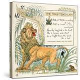 The Frightened Lion  Illustration from 'Baby's Own Aesop'  Engraved and Printed by Edmund Evans …