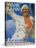 Wank Bahn  German Ski Travel Poster