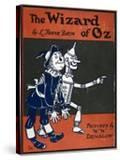 Illustrated Front Cover For the Novel 'The Wizard Of Oz' With the Scarecrow and the Tinman