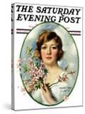 """""""Woman and Dogwood """" Saturday Evening Post Cover  May 1  1926"""