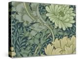 William Morris Wallpaper Sample with Chrysanthemum  1877