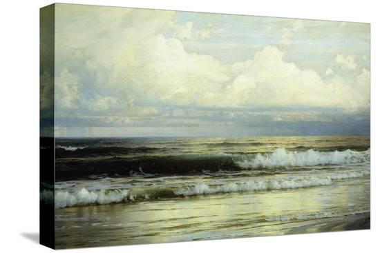 william-trost-richards-sunlit-clouds-and-sea