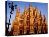 Facade of the Cathedral  Milan  Italy