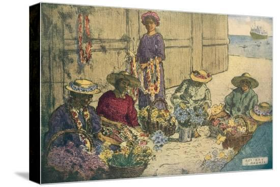 women-making-leis-hawaii