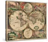 World Map  c1689